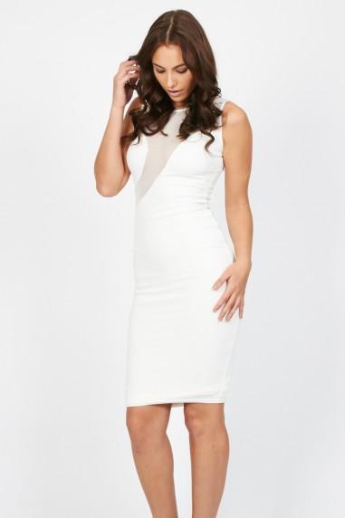 TFNC Assia Cream Midi Dress