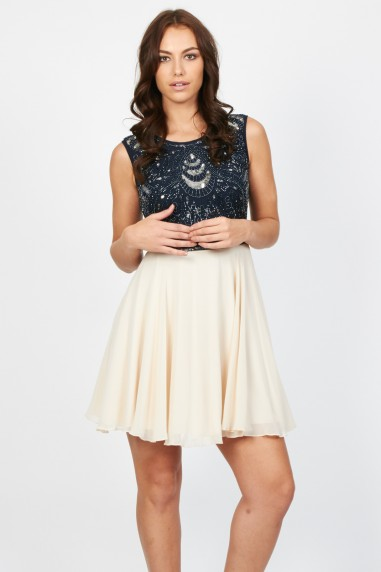 Lace & Beads Miami Navy Dress