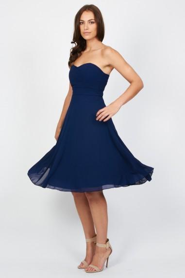 TFNC Debutante Navy Midi Dress
