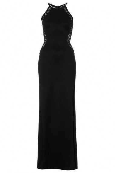 TFNC Sofia Lace Black  Maxi Dress