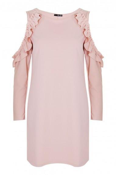 WalG Ruffle Trim Pink Shift Dress