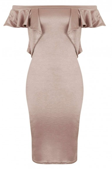 TFNC Naelle Nude Bodycon Dress