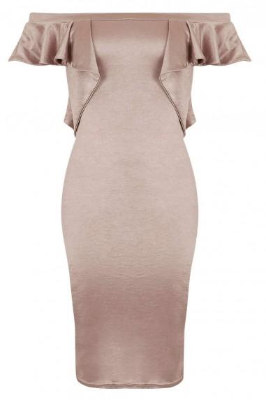 TFNC Naelle Nude Bodycon Dress