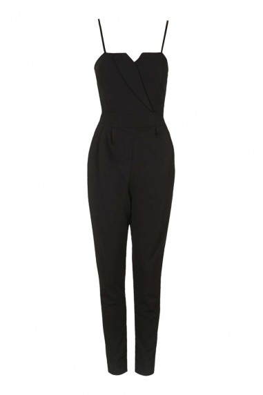WalG Tailored Detail Black Jumpsuit