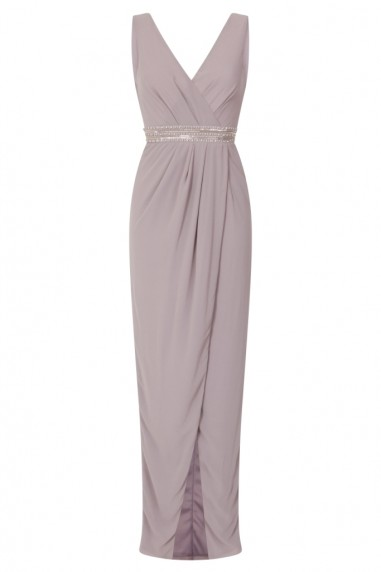 TFNC Violet Grey Maxi Embellished Dress