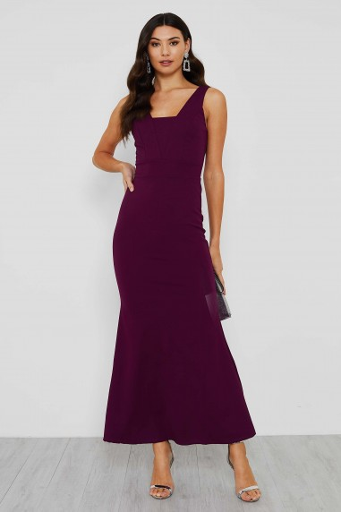 Ava Elegant Evening Square Neck Maxi