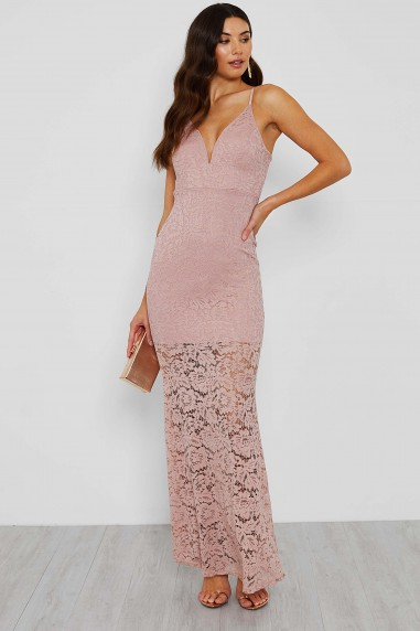 Zara Evening Lace Maxi Dress