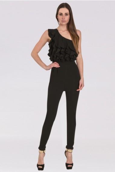 WalG Ruffle Black Jumpsuit