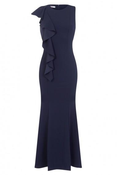 WalG Ruffle Navy Maxi Dress