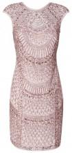 Lace & Beads Teardrop Pink Embellished Dress