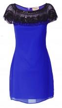 Lace & Beads Maralyn Blue Embellished Dress