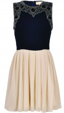 Lace & Beads Becky Navy Dress