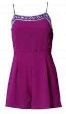 Lace & Beads Lulu Purple Playsuit