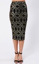TFNC Mandy Black Midi Skirt