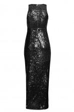 TFNC Lisha Black Sequin Maxi Dress