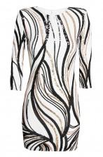 TFNC Paris Print White Sequin Dress