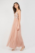 Lace & Beads Avon Mauve Maxi Dress