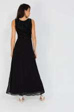 Lace & Beads Star Ob Black Dress