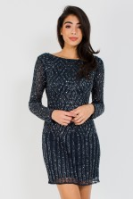 Lace & Beads Ashlie Embellished Mini Dress