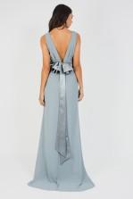 TFNC Halannah Blue Grey Maxi Dress