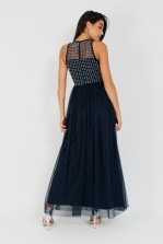 Lace & Beads Nautica Navy Maxi Dress
