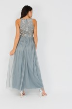Lace & Beads Abelle Grey Maxi Dress