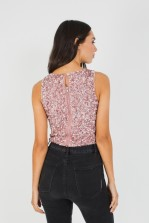 Lace & Beads Picasso  Dark Pink Sequin Top