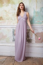 TFNC Arle Lavender Fog Maxi Dress