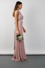 TFNC Halannah Lace Sleeveless Pale Mauve Maxi Dress