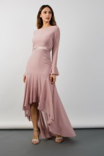 TFNC Valda Hi-Lo Pale Mauve Maxi Dress
