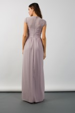 TFNC Janka Microchip Grey Maxi Dress
