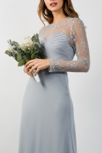 TFNC Cimmaron Blue Grey Maxi Dress