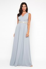 TFNC Nashira Blue Grey Maxi Dress