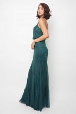 Lace & Beads Keeva Green Maxi Dress