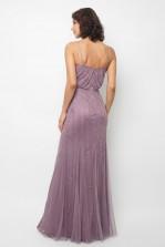 Lace & Beads Keeva Purple Maxi Dress