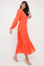 TFNC Reneen Orange Maxi Dress