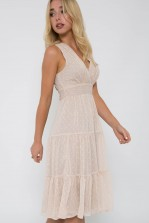 TFNC Roselina Nude Midi Dress
