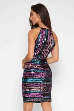 TFNC Dalice Multi Sequin Mini Dress