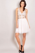 TFNC Piper Embellished Cut out Dress