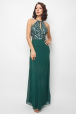 Lace & Beads Pam Green Maxi Dress