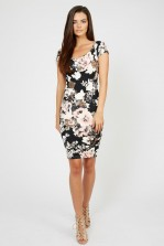 TFNC Shela Floral Black Dress