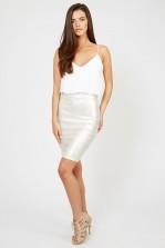 TFNC Annie Cream Metallic Cami Dress