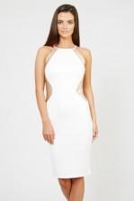 TFNC Sofia White Sequin Midi Dress