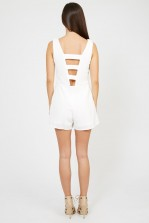 TFNC Marice White Playsuit