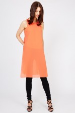 WalG Sheer Orange Tunic