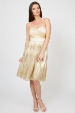 TFNC Lila Gold Midi Dress