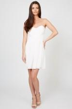 TFNC Elida White Chiffon Dress