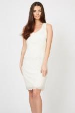 Lace & Beads Soft Cream Embellished Dress