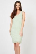 Lace & Beads Soft Mint Embellished Dress