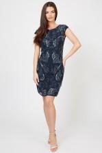 Lace & Beads Petrola Navy Embellished Dress